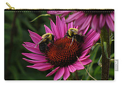 Carry-all Pouch featuring the photograph Beelievers by Lingfai Leung