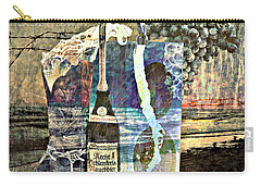 Carry-all Pouch featuring the mixed media Beer On Tap by Ally  White