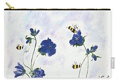Bees At Lunch Time Carry-all Pouch by Francine Heykoop