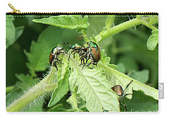 Carry-all Pouch featuring the photograph Beetle Posse by Thomas Woolworth
