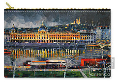 Before The Storm - View On Hotel Dieu Lyon And The Rhone France Carry-all Pouch