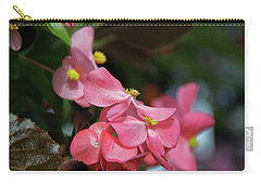 Begonia Beauty Carry-all Pouch by Ed  Riche