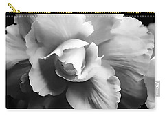 Begonia Flower Monochrome Carry-all Pouch
