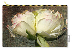 Begonia With A Tint Of Pink Carry-all Pouch by Denyse Duhaime
