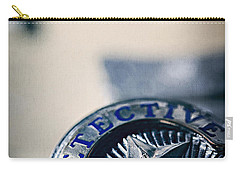 Carry-all Pouch featuring the photograph Behind The Badge by Trish Mistric