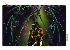 Carry-all Pouch featuring the digital art Behold The Pale Rider  by Hartmut Jager
