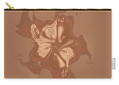 Beige Satin Morning Glory Carry-all Pouch