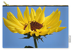 Carry-all Pouch featuring the photograph Bright Yellow Happy Sunshine by Belinda Lee