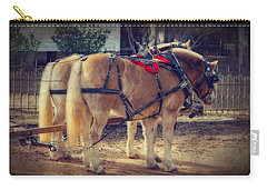 Belgium Draft Horses Carry-all Pouch by Charles Beeler