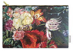 Life Is A Bouquet Of Flowers  Carry-all Pouch by Belinda Low