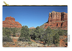 Carry-all Pouch featuring the photograph Bell Rock And Courthouse Butte by Penny Meyers