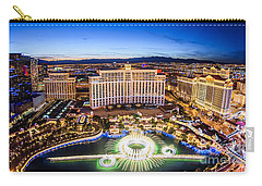 Bellagio Rountains From Eiffel Tower At Dusk Carry-all Pouch