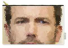 Ben Affleck Portrait Carry-all Pouch by Samuel Majcen