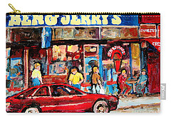 Ben And Jerrys Ice Cream Parlor Carry-all Pouch by Carole Spandau