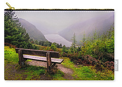 Bench Over The Upper Lake. Glendalough. Ireland Carry-all Pouch