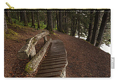 Carry-all Pouch featuring the photograph Bench Rest by Steven Reed