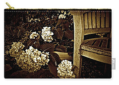 Bench With Hydrangeas Carry-all Pouch