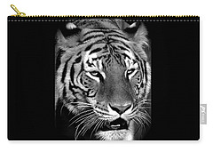Bengal Tiger In Black And White Carry-all Pouch by Venetia Featherstone-Witty