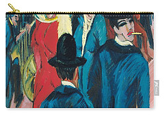 Berlin Street Scene Carry-all Pouch by Ernst Ludwig Kirchner