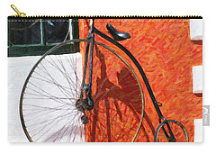 Carry-all Pouch featuring the photograph Bermuda Antique Bicycle by Verena Matthew