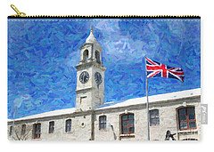 Carry-all Pouch featuring the photograph Bermuda Clocktower by Verena Matthew