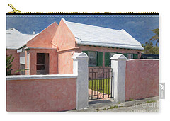 Carry-all Pouch featuring the photograph Bermuda Garden Gate by Verena Matthew