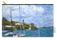 Carry-all Pouch featuring the photograph Bermuda Sailboats by Verena Matthew