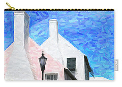 Carry-all Pouch featuring the photograph Bermuda Side Street by Verena Matthew