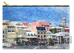 Carry-all Pouch featuring the photograph Bermuda Waterfront by Verena Matthew