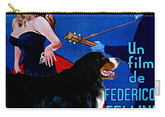 Bernese Mountain Dog Art Canvas Print - La Dolce Vita Movie Poster Carry-all Pouch