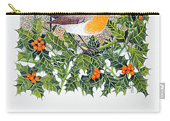 Berrying  Carry-all Pouch by Pat Scott
