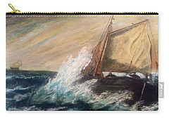 Carry-all Pouch featuring the painting Berts Boat by Judith Desrosiers