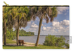 Carry-all Pouch featuring the photograph Beside The Shore by Jane Luxton