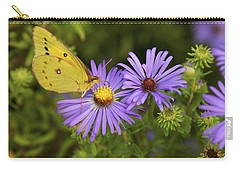Best Friends - Sulphur Butterfly On Asters Carry-all Pouch