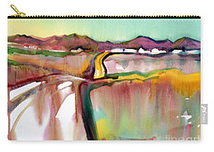 Carry-all Pouch featuring the painting Bethel Road by Teresa Ascone