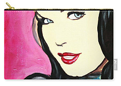 Bettie Page Pop Art Painting Carry-all Pouch