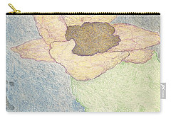 Carry-all Pouch featuring the drawing Between Dreams by Kim Pate