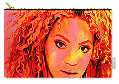 Carry-all Pouch featuring the painting Beyonce by Brian Reaves