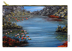 Beyond The Bridge At Lily Pond Carry-all Pouch