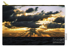 Crepuscular Biblical Rays At Dusk In The Gulf Of Mexico Carry-all Pouch by Michael Hoard