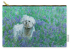 Bichon In The Bluebonnets Carry-all Pouch