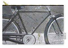 Bicycle In Rome Carry-all Pouch by Claudia Goodell