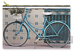 Vintage Bicycle Photography - Bicycles Are Not Only For Summer Carry-all Pouch