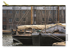 Carry-all Pouch featuring the digital art Biddle Warehouse by Ron Harpham