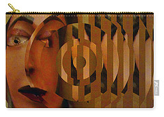 Carry-all Pouch featuring the mixed media Bienvenido 2 by Linda Weinstock