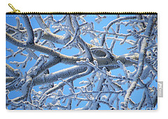 Bifurcations In White And Blue Carry-all Pouch by Brian Boyle