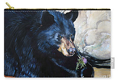 Big B And Little Bee Carry-all Pouch by J W Baker