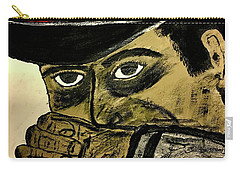 Carry-all Pouch featuring the painting Big Bad John Coal Miner by Jeffrey Koss