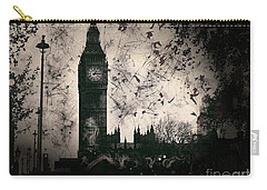 Big Ben Black And White Carry-all Pouch