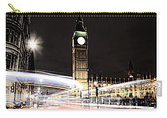 Big Ben With Light Trails Carry-all Pouch
